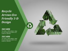 Recycle Arrows Eco Friendly 3 D Design