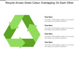 Recycle Arrows Green Colour Overlapping On Each Other