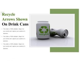 Recycle Arrows Shown On Drink Cans
