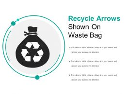 Recycle Arrows Shown On Waste Bag