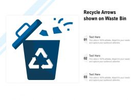 Recycle Arrows Shown On Waste Bin