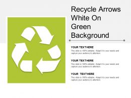 Recycle Arrows White On Green Background