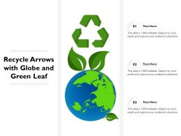 Recycle Arrows With Globe And Green Leaf