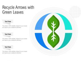 Recycle Arrows With Green Leaves