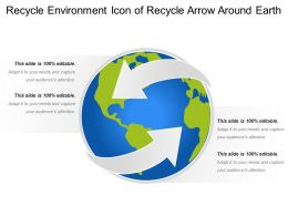 Recycle Environment Icon Of Recycle Arrow Around Earth