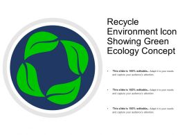 Recycle Environment Icon Showing Green Ecology Concept