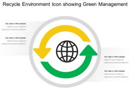 Recycle Environment Icon Showing Green Management