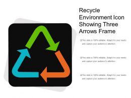 Recycle Environment Icon Showing Three Arrows Frame