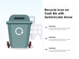 Recycle Icon On Trash Bin With Semicircular Arrow