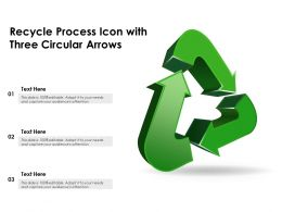 Recycle Process Icon With Three Circular Arrows