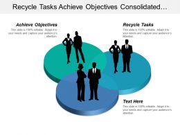 Recycle Tasks Achieve Objectives Consolidated Infrastructure Corrective Adjustments