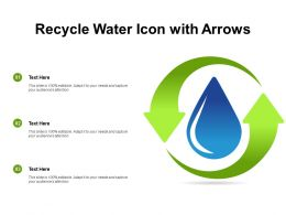 Recycle Water Icon With Arrows