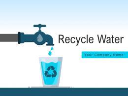 Recycle Water Treatment Circular Arrow Illustrating Irrigation Representing