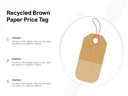 Recycled Brown Paper Price Tag