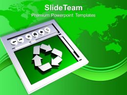 Recycled Symbol Environment Energy Wastage Powerpoint Templates Ppt Themes And Graphics 0113