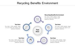 Recycling Benefits Environment Ppt Powerpoint Presentation Summary Download Cpb