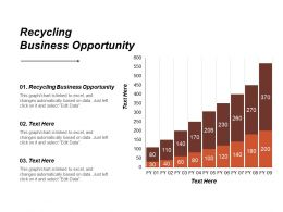 Recycling Business Opportunity Ppt Powerpoint Presentation File Example Introduction Cpb