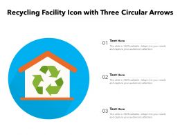 Recycling Facility Icon With Three Circular Arrows