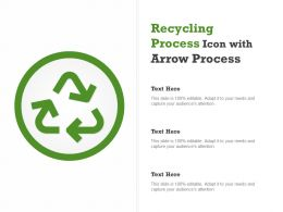 Recycling Process Icon With Arrow Process