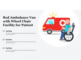Red Ambulance Van With Wheel Chair Facility For Patient