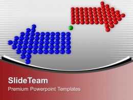 Red And Blue Arrows In Diffrent Directions PowerPoint Templates PPT Themes And Graphics 0213