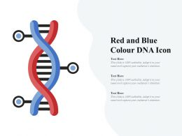 Red And Blue Colour DNA Icon