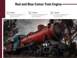 Red And Blue Colour Train Engine