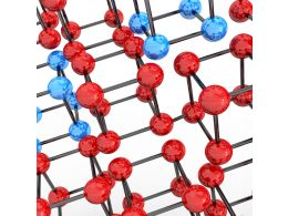 Red And Blue Dna Molecule Stock Photo