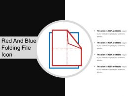 Red And Blue Folding File Icon