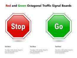 Red And Green Octagonal Traffic Signal Boards