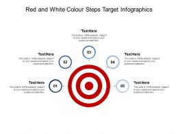 Red And White Colour Steps Target Infographics