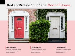 Red And White Four Panel Door Of House