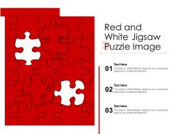 Red And White Jigsaw Puzzle Image