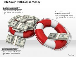 Red And White Lifesaver Rings With Dollar Bundles