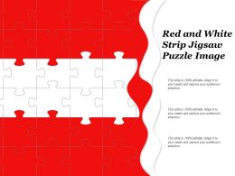 Red And White Strip Jigsaw Puzzle Image