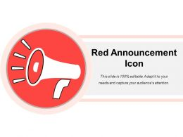 Red Announcement Icon