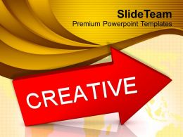 Red Arrow With Word Creative Powerpoint Templates Ppt Themes And Graphics