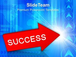Red Arrow With Word Success Powerpoint Templates PPT Themes And Graphics 0113