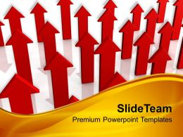 Red Arrows Pointing Upwards Business Powerpoint Templates Ppt Themes And Graphics