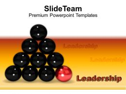 red ball leads other balls leadership powerpoint templates ppt themes and graphics 0213