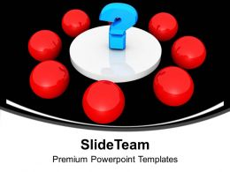 Red Balls And A Question Mark In Center Powerpoint Templates Ppt Themes And Graphics 0113