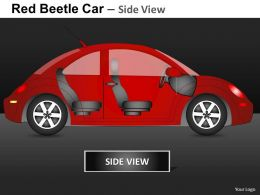 Red Beetle Car Side View Powerpoint Presentation Slides DB