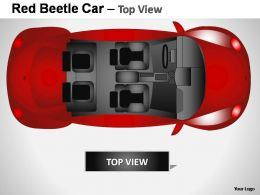 Red Beetle Car Top View Powerpoint Presentation Slides
