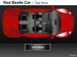 Red Beetle Car Top View Powerpoint Presentation Slides DB