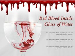 Red Blood Inside Glass Of Water