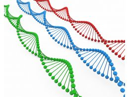 Red Blue And Green Dna Structure Stock Photo