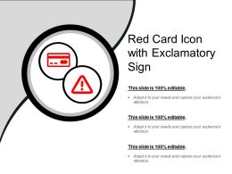 Red Card Icon With Exclamatory Sign