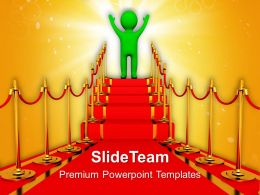 Red Carpet Path First Competiton Powerpoint Templates Ppt Themes And Graphics 0113