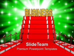 Red Carpet Presenting Business Concept Powerpoint Templates Ppt Themes And Graphics 0213