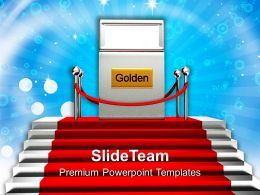 Red Carpet Stairway Powerpoint Templates PPT Themes And Graphics 0113